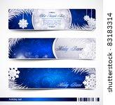 vector set of christmas festive ... | Shutterstock .eps vector #83183314