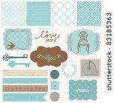 scrapbook design elements  ... | Shutterstock .eps vector #83185363