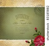 grunge vintage invitation with... | Shutterstock .eps vector #83185882