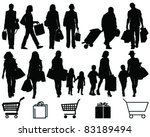 shopping  black silhouettes and ... | Shutterstock .eps vector #83189494