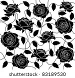 the seamless of a black roses... | Shutterstock .eps vector #83189530