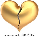 Broken Heart Shape Total Golden....