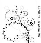 vector floral design elements | Shutterstock .eps vector #8318974