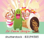 creature and ice cream vector | Shutterstock .eps vector #83194585