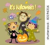 halloween trick or treat kids... | Shutterstock .eps vector #83196316