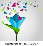 origami  abstract background.... | Shutterstock .eps vector #83213707