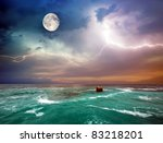 Storm On The Sea. Composition...