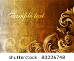 3d grungy floral background  ... | Shutterstock .eps vector #83226748