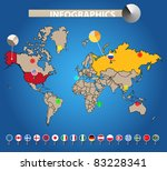 infographics. color earth map... | Shutterstock .eps vector #83228341