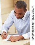 young african business man... | Shutterstock . vector #83228674