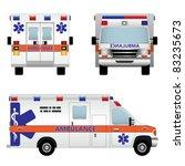 ambulance car. vector... | Shutterstock .eps vector #83235673