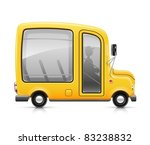 Yellow Bus Vector Illustration...