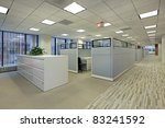 office area with cubicles in... | Shutterstock . vector #83241592