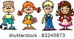 cartoon children  students | Shutterstock .eps vector #83245873
