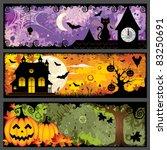 halloween banners | Shutterstock .eps vector #83250691