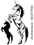 beautiful unicorn vector...   Shutterstock .eps vector #83257936