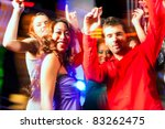 group of party people   men and ... | Shutterstock . vector #83262475