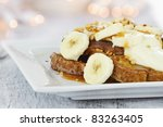 French Toast Topped With Slice...