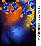 molecular structure | Shutterstock .eps vector #83270359