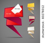colorful polygonal origami... | Shutterstock .eps vector #83278312