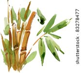 green bamboo  painted in... | Shutterstock . vector #83278477