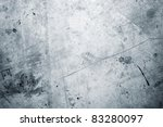 Closeup of rough blue textured grunge background - stock photo