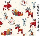 christmas seamless pattern   Shutterstock .eps vector #83281873
