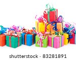 Colorful Gifts Box Isolated On...