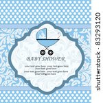 baby shower announcement   Shutterstock .eps vector #83293120