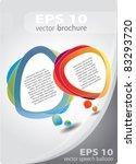 modern brochure vector cover  ... | Shutterstock .eps vector #83293720