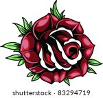 vector tattoo  rose | Shutterstock .eps vector #83294719