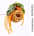 Spaghetti Bolognese With Basil...