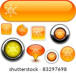 Sun Vector Glossy Icons.