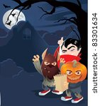 halloween trick or treat | Shutterstock .eps vector #83301634