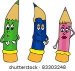 cartoon pencils   Shutterstock .eps vector #83303248