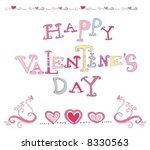 valentine's card  background | Shutterstock .eps vector #8330563