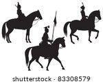 Cavalry Horse Riders Vector...