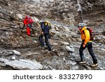 alpinists climbing eiger peak ... | Shutterstock . vector #83327890