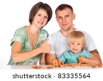 portrait of a nice family of a...   Shutterstock . vector #83335564