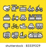 cute simple transportation icon