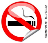 vector no smoking sign  eps10... | Shutterstock .eps vector #83343832