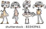 fashion girl | Shutterstock .eps vector #83343961