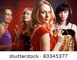 portrait of happy young girls ... | Shutterstock . vector #83345377