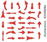 illustration set of red arrows | Shutterstock . vector #83348086