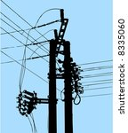 power pole   abstract...   Shutterstock .eps vector #8335060
