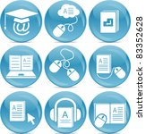 e learning icons | Shutterstock .eps vector #83352628