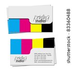 business card set   vector... | Shutterstock .eps vector #83360488