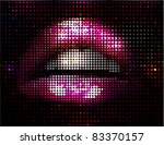 Stock vector vector lips illustration 83370157