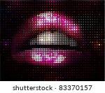 vector lips illustration   Shutterstock .eps vector #83370157