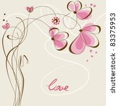 love floral card | Shutterstock .eps vector #83375953
